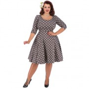 Lady V London Phoebe Mocha Polka