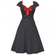Lady V London Isabella Black Polka