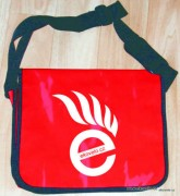 Messenger bag - red - ekovelo - pank