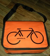 Messenger bag - orange - ekovelo - velo
