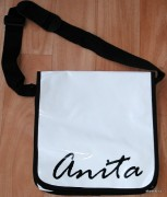Messenger bag - white - name -Anita