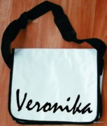 Messenger bag - white - name - Veronika
