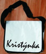Messenger bag - white - name - Kristýnka