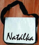 Messenger bag - white - name - Natálka