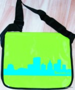 Messenger bag - apple green - ekovelo - city