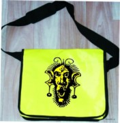 Messenger bag - yellow - sign