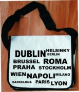 Messenger bag - white - name
