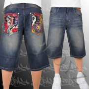 Hip hop jeans kraťasy Tribal
