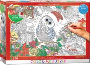 Puzzle EuroGraphics COLOR ME Sova Holly Joly 300  +  sada na zavěšení