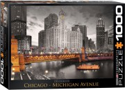 Puzzle EuroGraphics Řeka Chicago 1000