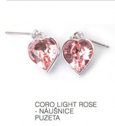 Coro Light Rose - náušnice puzeta