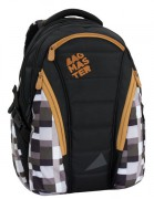 Studentský batoh klučičí Bagmaster BAG 6 F BLACK/BROWN/GREY