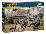 Model Kit military 6549 - STEYR RSO/01 with GERMAN SOLDIERS (Italeri 1:35)