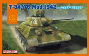 Model Kit tank 7601 - T-34/76 Mod.1942 Cast Turret (Dragon 1:72)