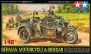 Tamiya Model tanku 32578 - German bike & sidecar (Tamiya 1:48)