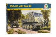 Model Kit military 6563 - RSO/03 with PAK 40 (Italeri 1:35)