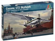 Model Kit letadlo 2764 - CESSNA 172 SKYHAWK - 1987 Landing on Red Square (Italeri 1:48)
