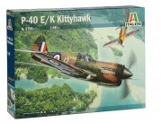 Model Kit letadlo 2795 - P-40E/K Kittyhawk (Italeri 1:48)