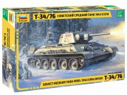Model Kit tank 3689 - T-34/76 mod.1943 Uralmash (Zvezda 1:35)