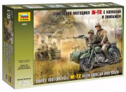 Model Kit figurky 3639 - Soviet WWII Motorcycle M-72 (Zvezda 1:35)