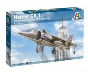 Model Kit letadlo 1435 - HARRIER GR.1 Transatlantic Air Race 50th Anniversary (Italeri 1:72)