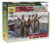 Wargames (WWII) figurky 6231 - Soviet headquarters in winter uniform (Zvezda 1:72)