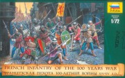 Wargames (AoB) figurky 8053 - French Infantry of the 100 Years War (Zvezda 1:72)