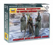 Wargames (WWII) figurky 6232 - German Headquarters in winter uniform (Zvezda 1:72)