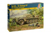 Model Kit military 6561 - Sd. Kfz. 10 Demag D7 with German Paratroops (Italeri 1:35)