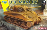 Model Kit tank 6618 - U.S. M4A1 DV (with Magic Tracks) (SMART KIT) (Dragon 1:35)