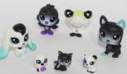 LITTLEST PET SHOP   černobílá serie LPS