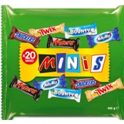 085 - MINIS-Snickers, Mars, Twix,  Bounty, Milky way 400g