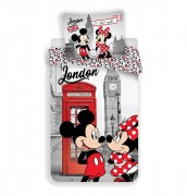 Jerry Fabrics Povlečení Mickey a Minnie in London Telephone