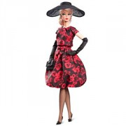 BARBIE COLLECTOR SILKSTONE Rose Coctail Dress Doll