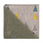 Deka Harmony Happy Triangles 100% bavlna 80x100 cm Petite&Mars