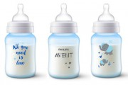 Philips Avent Lahev Anti-colic 260 ml,  1 ks modrá slon