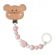 klip Lässig Soother Holder Wood/Silicone Little Chums mouse