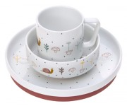 set Lässig Dish Set Porcelain Garden Explorer girls
