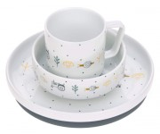 set Lässig Dish Set Porcelain Garden Explorer boys