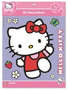 Dekorace - HELLO KITTY 3D