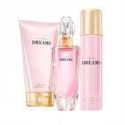 Avon Dreams sada-Avon Dreams EDP 50 ml a Tělové mléko Avon Dreams 150 ml a Tělový sprej Avon Dreams 75 ml