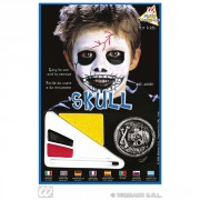 Make-up set Skull Halloween lebka