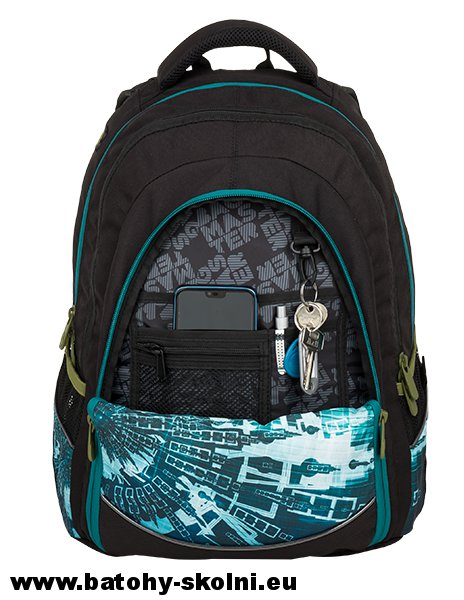Studentský batoh Digital 9 B BLUE GREEN BLACK Bagmaster c8c2872457