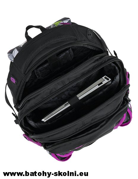 eb13d3dc59 Studentský batoh BAG 9 B PURPLE GREEN BLACK Bagmaster