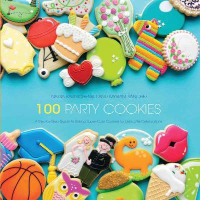Kniha 100 Party cookies - 100 party sušenek > 22,5 cm x 22,5 cm