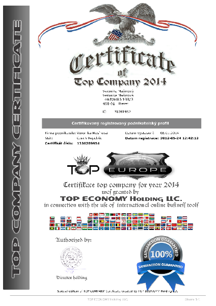 certifikat TOP europe