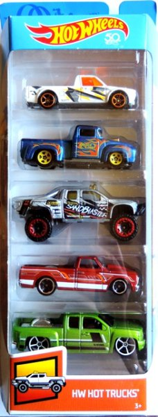 HOT WHEELS - 5pack HW Hot Trucks