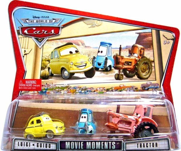 CARS (Auta) - Luigi + Guido + Tractor - The World of Cars
