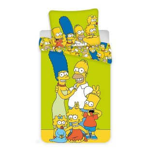 JERRY FABRICS Povlečení Simpsons Family green 140x200, 70x90