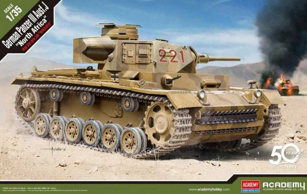 "German Panzer III Ausf.J ""North Africa"" (Academy 1:35) > 1:35"